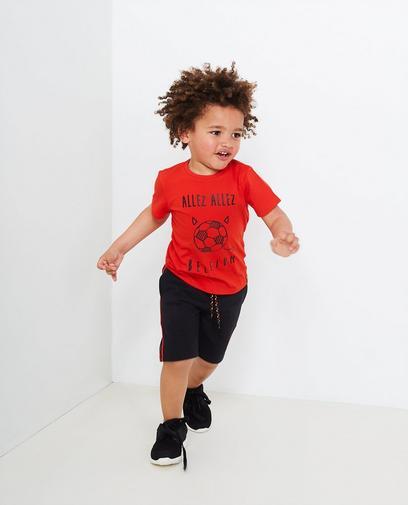 Rood T-shirt jongens 2-7